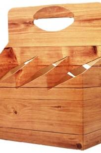Flaschenträger-Holzdekor